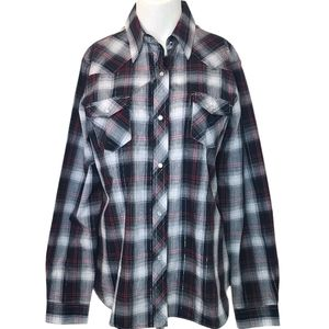 Roper Womens Pearl Snap Plaid Shirt NWOT